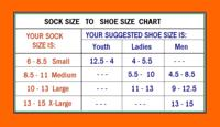 Sock to Shoes Size Chart